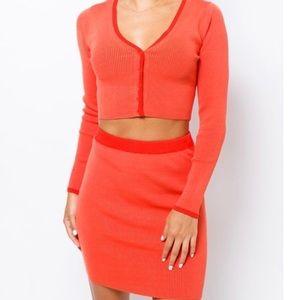 Blood Orange Skirt Set